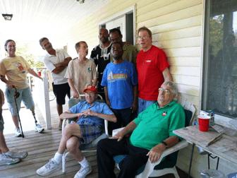 Bro. Jim with the residents of Aspen House